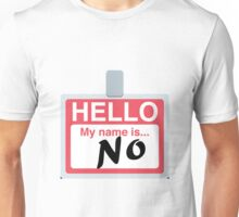 Hello My Name is 'No' Emoji - Customs available! Unisex T-Shirt
