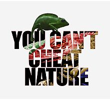 You can't cheat nature Photographic Print