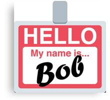 Name Badge Emoji - Customs Available! Canvas Print