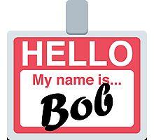 Name Badge Emoji - Customs Available! Photographic Print