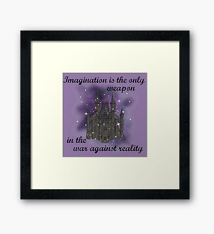 Imagination and Reality Framed Print