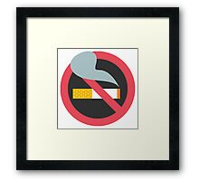 No Smoking Emoji Framed Print