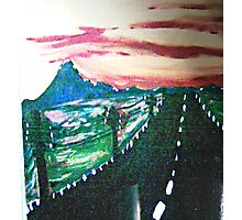 The Long Lonely Road  Photographic Print