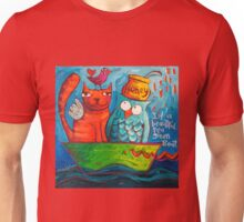 In a beautiful pea green boat Unisex T-Shirt