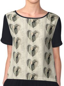 My Little Squirrelly Heart Chiffon Top