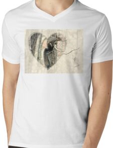 My Little Squirrelly Heart Mens V-Neck T-Shirt