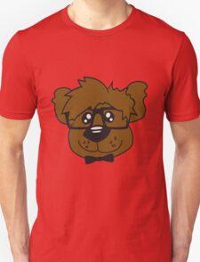 head, face, nerd geek smart hornbrille clever fly cool young comic cartoon teddy bear Unisex T-Shirt