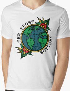 TFB Globe Mens V-Neck T-Shirt