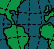 Turnover Globe Sticker