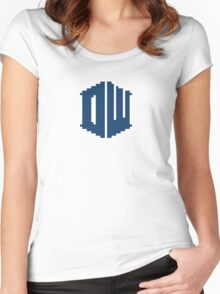 8 Bit Doctor Who Women's Fitted Scoop T-Shirt