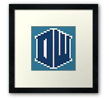 8 Bit Doctor Who Framed Print