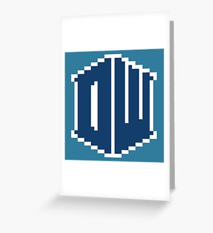 8 Bit Doctor Who Greeting Card