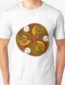 Triskele Shield-Gold Unisex T-Shirt