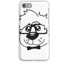head, face, nerd geek smart hornbrille clever fly cool young comic cartoon teddy bear iPhone Case/Skin