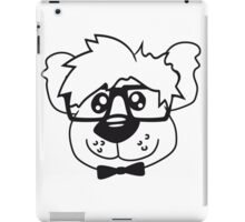 head, face, nerd geek smart hornbrille clever fly cool young comic cartoon teddy bear iPad Case/Skin