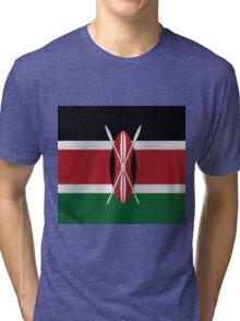 Kenya flag Tri-blend T-Shirt