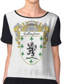 Gallagher Coat of Arms/Family Crest Chiffon Top