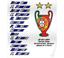 Porto 2004 Champions League Final Winners Poster