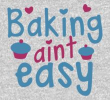 Baking aint easy with cute cupcakes One Piece - Long Sleeve