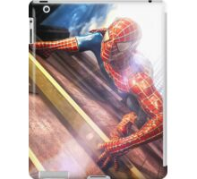 Sipderman superhero climbing the wall iPad Case/Skin