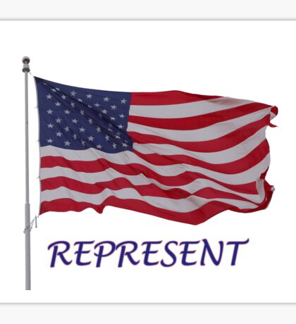 stand up for america flag Sticker