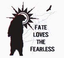 """Fate Loves the Fearless"" - Spirit Bear & Spirit Eagle Silhouette  Kids Tee"