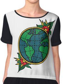 Globe Chiffon Top
