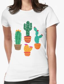 Cactus1 Womens Fitted T-Shirt