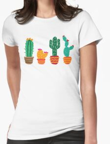 Cactus2 Womens Fitted T-Shirt
