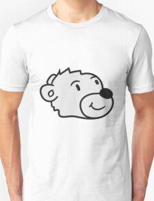 head, face, sweet little cute polar bear teddy funny Unisex T-Shirt