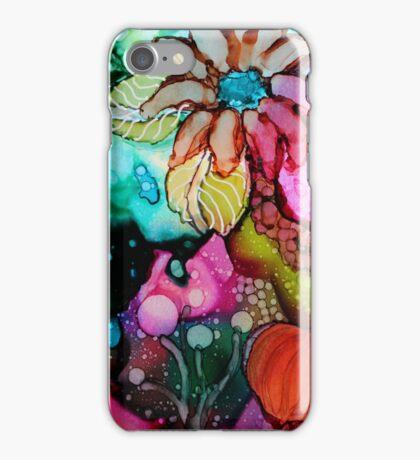Garden Fantasy 3 - Unique Artist's Ink Painting! iPhone Case/Skin