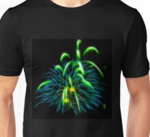 Abstract Green Fireworks  Unisex T-Shirt