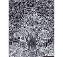 Trippy Mushroom Photographic Print
