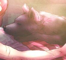 Dog and Wolf Sticker
