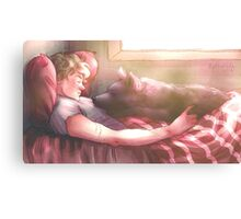 Dog and Wolf Canvas Print