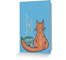 Cat Tea Greeting Card