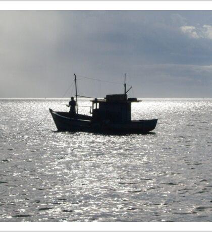 Lonely Fisherman Sticker