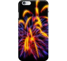 Pupr;e and Yellow Abstract Fireworks  iPhone Case/Skin