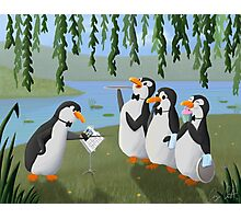Singing Practice - Penguins Mary Poppins Photographic Print