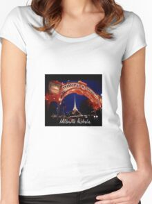 Cultural Center in Melbourne during a cultural festival Women's Fitted Scoop T-Shirt