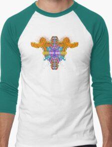 Who Ram I? (Orange) Men's Baseball ¾ T-Shirt