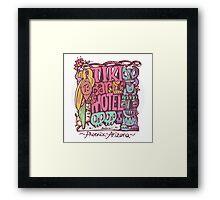 tiki motel Framed Print