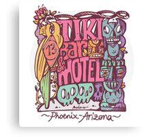 tiki motel Canvas Print