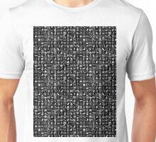 Black Hieroglyph Unisex T-Shirt