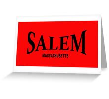 Salem Massachusetts - black  Greeting Card