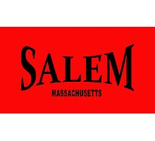 Salem Massachusetts - black  Photographic Print