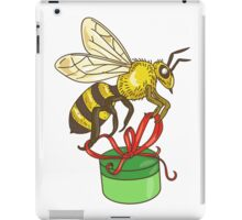 Bee Carrying Gift Box Drawing iPad Case/Skin