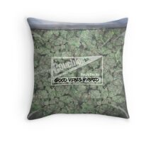 The Big Bag of Weed pillow Throw Pillow