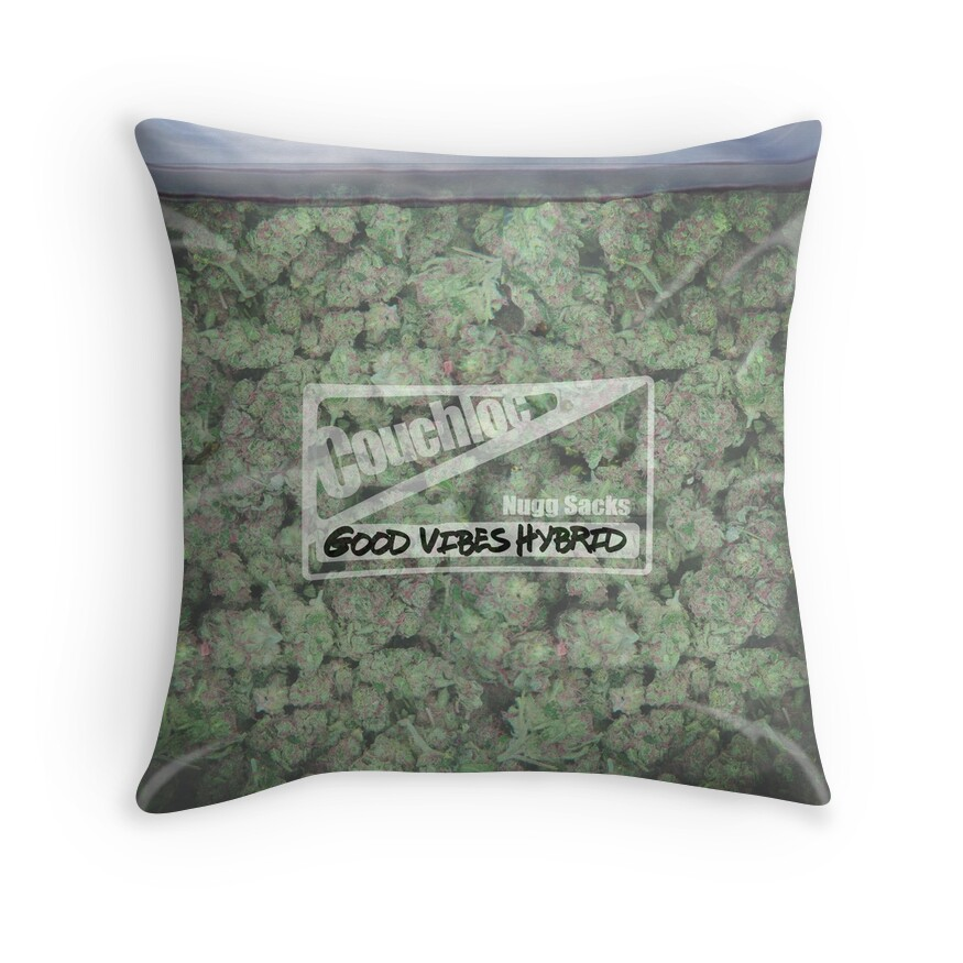 Quot The Big Bag Of Weed Pillow Quot Throw Pillows By Kushcoast