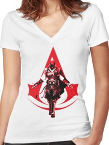 Ezio Women's Fitted V-Neck T-Shirt